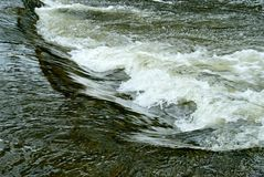 Turbulent water. Fast flowing weir in the river Hodder in Lancashire uk stock photos