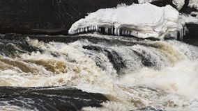 Turbulent waters, Hog's Back Falls Royalty Free Stock Photo