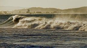 Turbulent waves Stock Photos