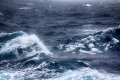 Turbulent waves of Pacific ocean Stock Photography