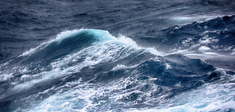 Turbulent waves of Pacific ocean Stock Photo