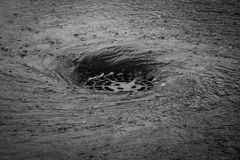 Turbulenz wenn es ` s Regnen stockbild