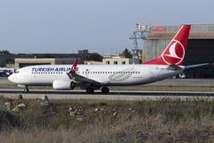 Turc 737 décollant Images libres de droits