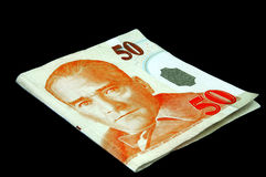 turc de note de 50 Lires Photos libres de droits