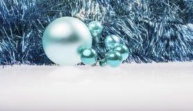 Turchese di Natale e decorazione blu Immagini Stock