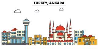 Turcja, Ankara Miasto linii horyzontu architektura _ royalty ilustracja
