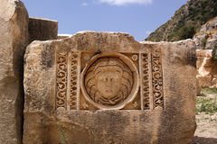Turcja, Demre headstones rzeźbiący z wizerunkiem Obraz Royalty Free