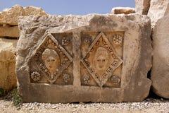 Turcja, Demre, headstones rzeźbił z wizerunkiem Obrazy Royalty Free