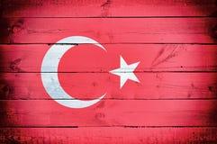 Turcja flaga Obrazy Royalty Free
