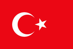 Turcja flaga dla grafiki Fotografia Stock