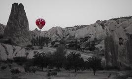 Turcja flaga gorącego powietrza balon obraz stock