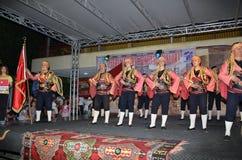 Turcja grupa wykonuje punkt na scenie Zdjęcia Stock