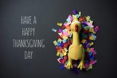 Turcja i tekst szczęśliwego dziękczynienie dzień Zdjęcia Royalty Free