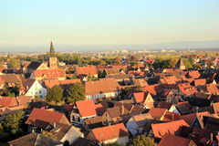 Turckheim, city of Alsace. City at the heart of the vineyard of Alsace Stock Image