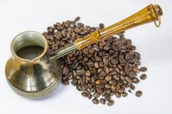 Turco con caffè immagine stock