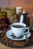 Turco de la taza de café imagenes de archivo