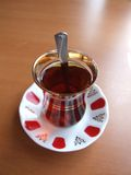 Turco del tiempo del té Fotografía de archivo libre de regalías