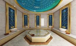 Turco Hamam, progettazione moderna del bagno Immagine Stock