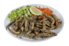 Turco Hamsi Tava, Fried Anchovies Fotografie Stock