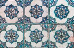 Turco hecho a mano antiguo - tejas del otomano Fotografía de archivo libre de regalías
