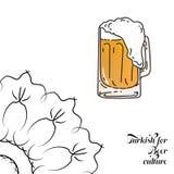 Turco para la cultura de la cerveza ilustración del vector