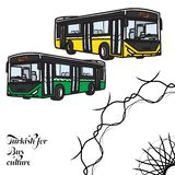 Turco para la cultura del autobús ilustración del vector