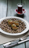 Turco Ramadan Dessert Baklava fotografia de stock