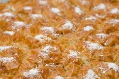 Turco Ramadan Dessert Baklava com fundo do conceito fotos de stock