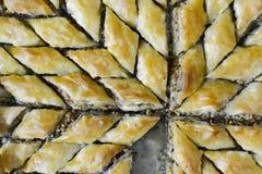 Turco Ramadan Dessert Baklava com nozes fotografia de stock