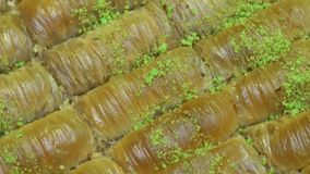 Turco Ramadan Dessert Baklava, tiro de giro de Burma filme