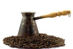 Turco sui beens del caffè Immagine Stock Libera da Diritti