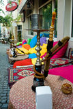 turco tradizionale della via del pub di Costantinopoli Fotografie Stock Libere da Diritti