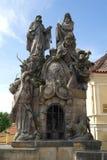 Turcos del puente de Praga imágenes de archivo libres de regalías