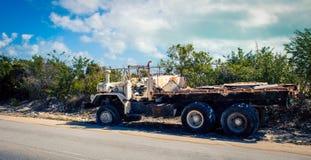 Turcos y Caicos del camión del abandono Imagen de archivo libre de regalías