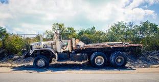 Turcos y Caicos del camión del abandono Fotografía de archivo libre de regalías
