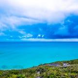 Turcs et île de la Caïques image libre de droits