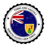 Turczynki i Caicos wysp chorągwiana odznaka Zdjęcia Stock