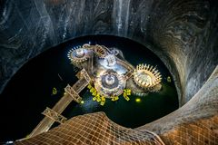 Turda的盐矿,罗马尼亚 免版税库存图片