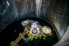 Turda的盐矿,罗马尼亚 图库摄影