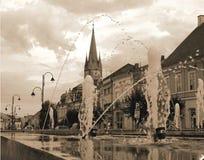 Turda - alte Ansicht des Stadtzentrums Stockfotografie