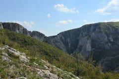 The Turda gorge. Cheile Turzii, in Transylvania, Romania royalty free stock image