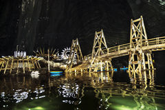 Turda salt mine, Romania. Salt lake. royalty free stock photos