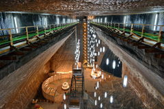 Turda Salt mine Stock Photos
