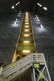 Turda salt mine stairs Stock Images