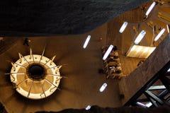 Turda Saltmine 1. Turda Salt Mine, near Cluj Napoca, Romania. An old saltmine transformed into a touristic and medical attraction, with underground sport Royalty Free Stock Photos