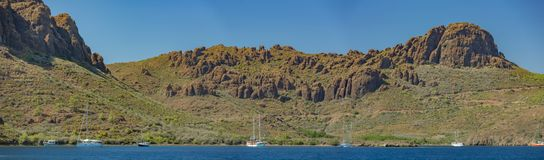 Tureccy Błękitni podróż jachty w Siedem wyspach Obrazy Stock