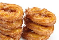 Tureccy pączki lub tradycyjny ringowy cukierki na białym tle Zdjęcia Stock