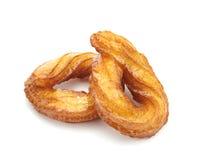 Tureccy pączki lub tradycyjny ringowy cukierki pojedynczy białe tło Obraz Stock