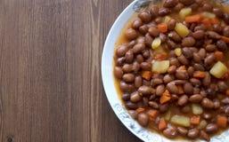 Tureccy posiłki: Gotować cynaderki fasole: Barbunya pilak Zdjęcia Royalty Free