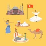 Tureccy symbole ilustracja wektor
